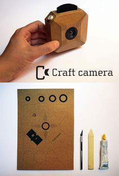 The Craft Camera is an open source, cardboard case exterior Arduino components DIY shooter designed by Coralie Gourguechon. Bring your own memory card, alongside an X-acto blade and some glue! Preschool Crafts, Fun Crafts, Crafts For Kids, Arts And Crafts, Cardboard Camera, Cardboard Box Crafts, Diy Paper, Paper Crafts, Paper Clay