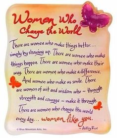 Women who can and do change the world
