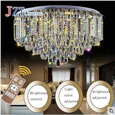 M Best Price Luxury Circular Crystal Ceiling Lamp LED Dimming Light Source Livingroom Bedroom led Ceiling Lamps for Home Decor