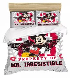 MICKEY MOUSE FULL SIZE DUVET COVER WITH TWO PILLOW CASES 3 PC SET Minnie Mouse Bedding, Disney Bedding, Mickey Minnie Mouse, Full Size Duvet Cover, Kids Bedding Sets, Soo Jin, Kids Blankets, Soyeon, Throw Pillow Cases