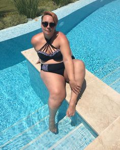 "68 Likes, 4 Comments - Becky (@beckybarnesblog) on Instagram: ""Take me back please  wearing @curvykate on the blog today.  #bikini #fatkini #plussize…"""