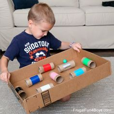 Make a Ball Maze Game - Great for hand-eye coordination! projects for boys Make a Ball Maze Hand-Eye Coordination Game - Frugal Fun For Boys and Girls Fun Activities To Do, Toddler Learning Activities, Preschool Activities, Diy Crafts For Kids, Projects For Kids, Tube Carton, Maze Game, Cardboard Tubes, Recycled Materials