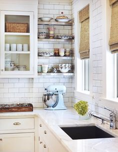 An small corner can be the perfect space for shelving // Storage Solutions
