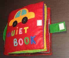 Quiet book con cierre de velcro