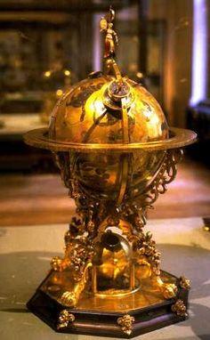 Mechanical heavenly globe.    1584