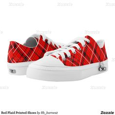 Red Plaid Printed Shoes
