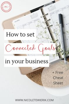 Do you find yourself setting goals and feeling like you are never quite getting there? Learn how to set connected goals that will propel your business forwards. Business Goals, Business Tips, Business Coaching, Online Business, Online Entrepreneur, Business Entrepreneur, Planner Doodles, Set Your Goals, Setting Goals