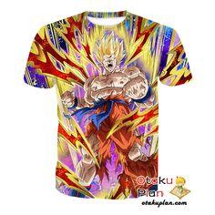 DBZ Roaring Anger Super Saiyan Goku T-Shirt - Dragon Ball Z 3D Shirts And Clothing  #merchandise #comic #anime #animeart #stuff #animeboy #animelover