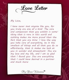 ... Pinterest | Love letters for him, Love letters and Love letter to her