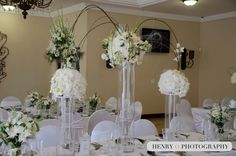 Flower Decorations, Table Decorations, Square Tables, Color Pallets, White Flowers, Wedding Planner, Wedding Venues, Table Settings, Furniture