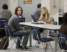 Still of Ashley Benson and Tyler Blackburn in Pretty Little Liars: Hanna and Caleb Pretty Little Liars Hanna, Pretty Little Lairs, Pretty Girls, Rhode Island, Ashley Benson And Tyler Blackburn, Caleb And Hanna, Pll Memes, Blind Dates, Tv Couples