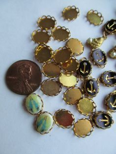 Baby Cabochon Settings by WhoKnowsWhat on Etsy