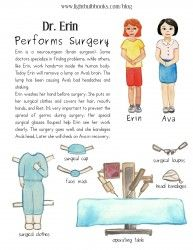 Neurosurgeon paper doll