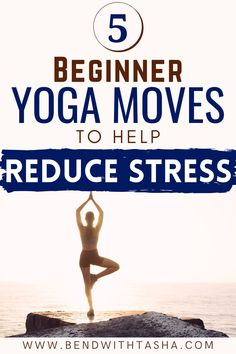 In this article you'll learn 5 beginner yoga moves to help reduce stress. If you're going through a stressful or overwhelming time right now, try these 5 beginner yoga moves to help you find calm and reduce your stress and anxiety levels. #yoga #yogamoves #yogaposes #yogaforstress #yogaforanxiety #mentalhealth #stressrelief #yogainspiration #yogaforbeginners