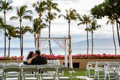 Book your dream Hawaiian wedding with Hyatt Regency Maui Resort and Spa! http://www.stylemepretty.com/2016/02/25/hyatt-regency-maui-resort-and-spa/
