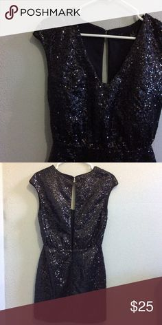 Open Back Sequin Dress - Size 4 NWOT open back sequin dress with concealed zip. Perfect for NYE and other glamorous occasions. Would fit XS as well. Selling because too large on me. Never worn, perfect condition. H&M Dresses Mini