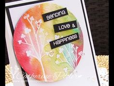Iron Crafter – Watercolor Clear Emboss Resist Card