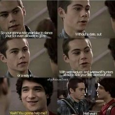 Teen wolf season one sciles. I miss when things were as simple as sneaking out to a dance 😢 Stiles Teen Wolf, Scott And Stiles, Teen Wolf Dylan, Teen Wolf Cast, Teen Wolf Memes, Teen Wolf Quotes, Teen Wolf Funny, Dylan O'brien, Fandoms Unite