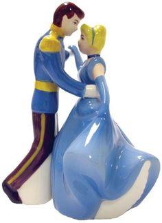 Cinderella & Prince Charming Magnetic Salt & pepper shakers official Disney