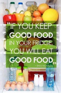 I cleaned the junk out of my refrigerator and pantry and stocked up on healthy foods. Back to eating clean for better health.