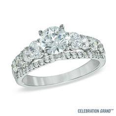 Celebration+Grand™+2-1/4+CT.+T.W.+Diamond+Edge+Engagement+Ring+in+14K+White+Gold+(I/I1)