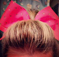 Hair poofs and cheer Pink Cheer Bows, High School Hairstyles, Eyeliner Flick, Cheer Hair, Let Your Hair Down, Dream Hair, Love Hair, About Hair, Grow Hair