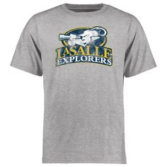 La Salle Explorers Big & Tall Classic Primary T-Shirt - Ash