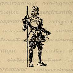Printable Graphic Medieval Knight Download Illustration Digital Image Vintage Clip Art Jpg Png Eps Print 300dpi No.3210 @ vintageretroantique.com #DigitalArt #Printable #Art #VintageRetroAntique #Digital #Clipart #Download