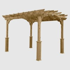 50 Wooden patio design ideas for your Backyard Cedar Pergola, Pergola With Roof, Backyard Pergola, Pergola Kits, Pergola Ideas, Sunroom Ideas, Garage Pergola, White Pergola, Pergola Plans
