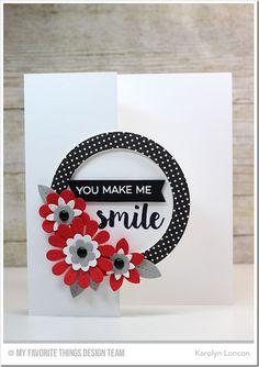 Sensational Stitched Flowers Card Kit - Karolyn Loncon  #mftstamps