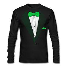 Irish Ireland Shamrock Tuxedo Tux Saint Patricks Day Gag Long Sleeve Thermal