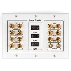Banana Plug Wall Plate Mesmerizing Tnp Home Theater Speaker Wall Plate Outlet 71 Surround Sound Audio Decorating Design