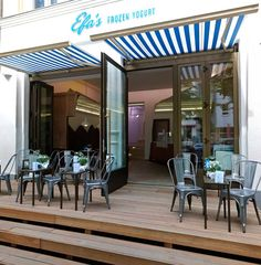 outdoor seating area frozen yogurt shop - Google Search
