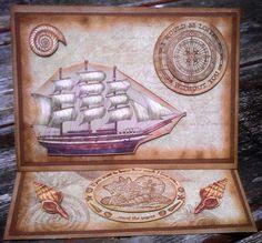 sailing ship card