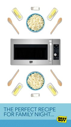 The Perfect Recipe for Family Night: 4 Day Weekend, 1 Couch, A Pinch of Floorspace, 1 LG Microwave, Press Start.