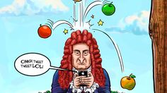 La (famosísima, pero imaginaria) manzana de Newton on Yavia Noticias http://blog.yavia.com.mx