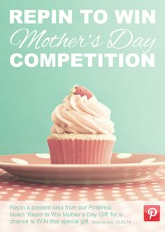 REPIN TO WIN Mother's Day COMPETITION. Repin one of ideas from our board for a chance to win that special gift. #ChesterfieldCollege Repin to Win #Competition