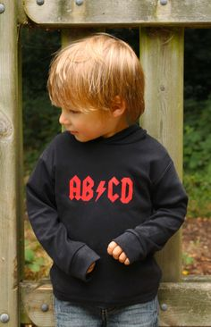 Cool AB/CD Baby Rock Hoodie   Funky, Cute & Cool Baby Clothes