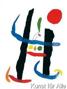 Joan Miro ~Via teaching artist Spanish Painters, Spanish Artists, Joan Miro Pinturas, Abstract Expressionism, Abstract Art, Abstract Landscape, Miro Artist, Joan Miro Paintings, Hieronymus Bosch