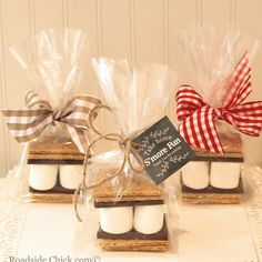 S'mores Party Favor Kit, DIY Favor Kit, Wedding Favors, Cowboy Party, Baby Shower Favors from Roadside Chick