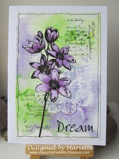 At the PaperArtsy blog there is a challenge using pigment powders. I have used on this card the newly released Magenta Nuance powders, I...