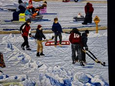"""""""Ice Fishing Village"""" by Les Amies du Quilt - detail 3"""