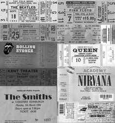 I want to see all of these bands even if it's impossible!