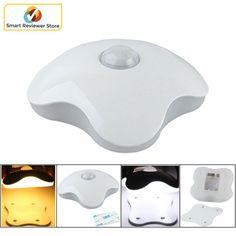 Motion Sensor LED light 6 LED Four Leaf Clover Style Night Lamp Sticks Anywhere #HomeGallery
