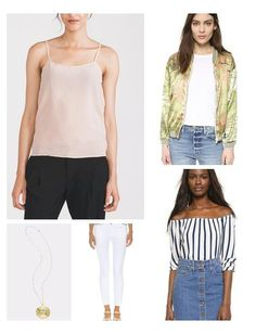 White denim is a Springtime must-have - it is versatile and adds an instant breath of fresh air to your wardrobe. Style with a silk tank & bomber jacket for a sporty-chic look. Or switch it up with an off-the-shoulder blouse & lace-up sandals!