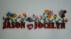 name in paper quilling