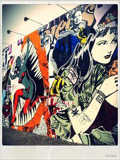 Street Art.... POP Art Wall – Bowery, NY #toobuku // www.thebukuproject.com