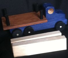 Handcrafted Wooden Toy Lumber Truck