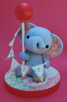 Baby Elephant Cake Topper by nomalu on Etsy https://www.etsy.com/listing/163962012/baby-elephant-cake-topper