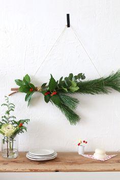 ★お正月準備・門松用の松で作るお正月スワッグ の画像 インテリアと暮らしのヒント
